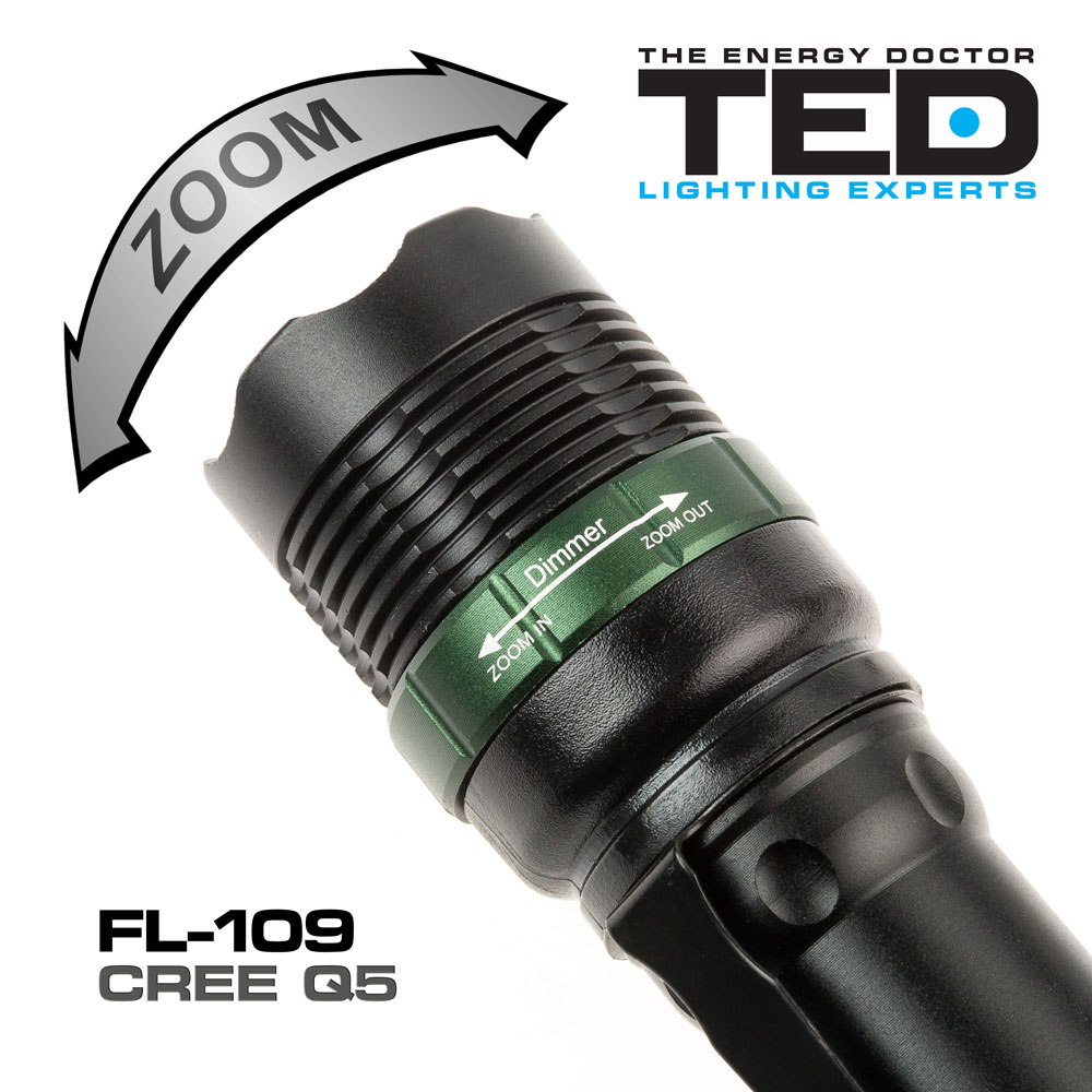 led flashlight fl 109 ted lighting experts