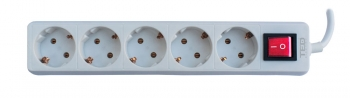 5 Outlet Power Strip with Lighting Switch