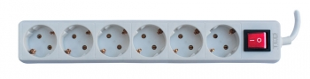 6 Outlet Power Strip with Lighting Switch