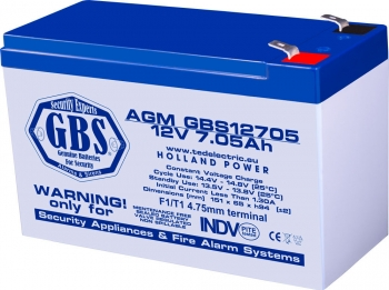 AGM Battery GBS12705F1 12V 7.05Ah