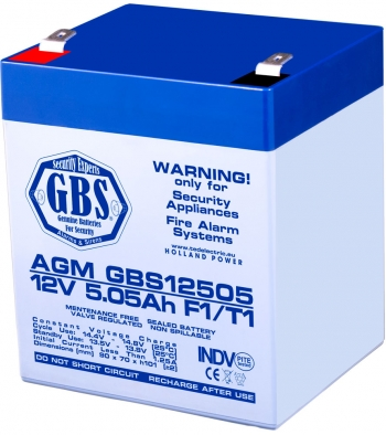 AGM Battery GBS12505F1 12V 5.05Ah