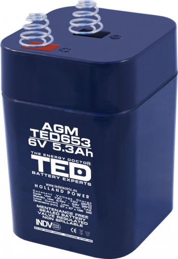 AGM Battery TED653 6V 5.3Ah