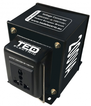 200VA - 230V to 110V TED Voltage Converter