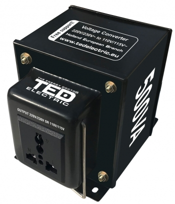 500VA - 230V to 110V TED Voltage Converter