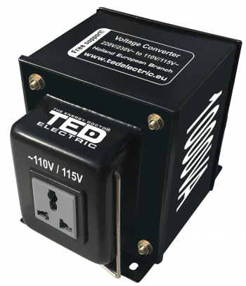 1000VA - 230V to 110V TED Voltage Converter