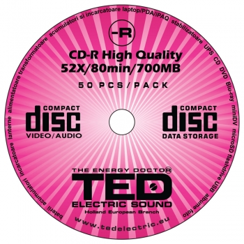 CD-R 52X 80min 700MB TED Electric Sound