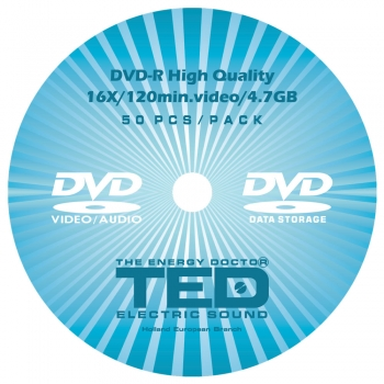 DVD-R 16X 120min 4.7GB TED Electric Sound