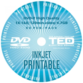DVD-R 16X 120min 4.7GB Printable TED Electric Sound