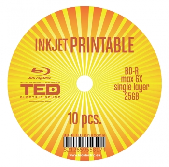 Blu-Ray Disc 6X 25GB Printable TED Electric Sound