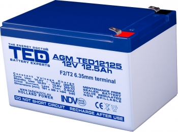 AGM Battery TED12125F2 12V 12.5Ah