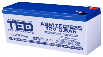 AGM Battery TED1235F1 12V 3.5Ah